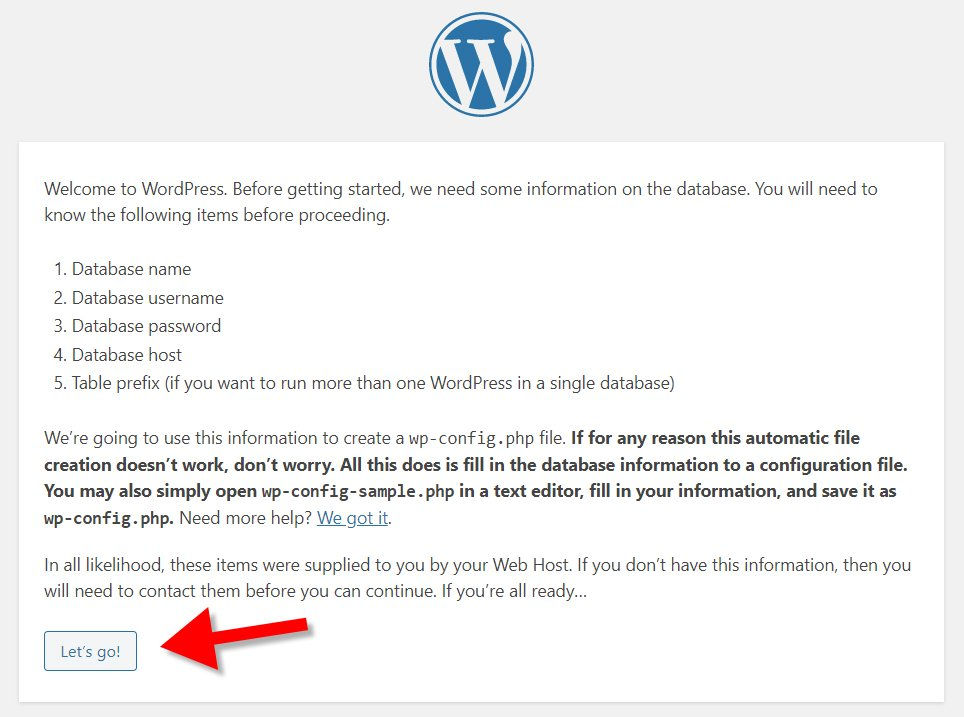 Wordpress database notification