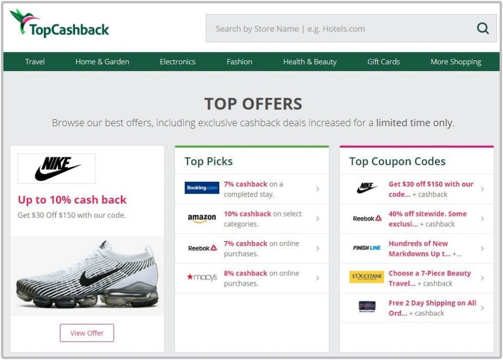 Get cash back for your purchase